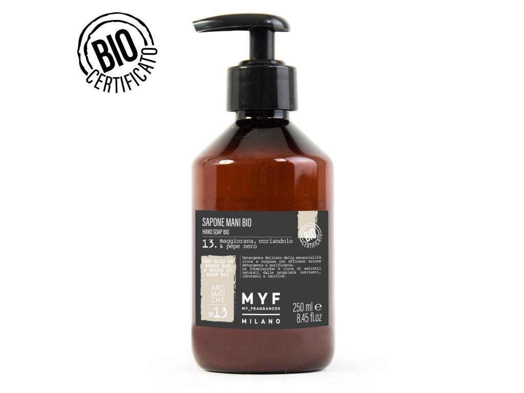 Tekuté mýdlo 250ml Majoránka, Koriandr & Černý pepř Bio certifikát