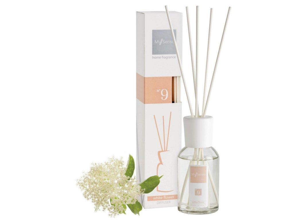 My Senso - Aromatický difuzér 100ml N°9 White Flower (Černý bez)