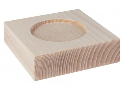 Wooden base 11x11x3,2cm