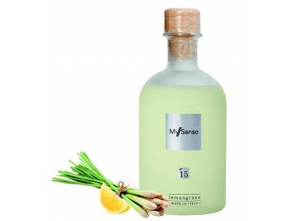 My Senso - Náhradní náplň pro aromatický difuzér N°15 Lemongrass (Čerstvý citrón), 240ml