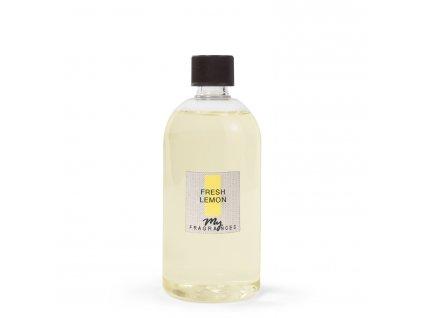MYF - Náplň pro aromatický difuzér Fresh Lemon (Citrón, sporýš, bergamot a jasmín), 500ml