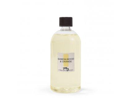 MYF - Náplň pro aromatický difuzér Sandalwood & Orange (Santalové dřevo a pomeranč), 500ml