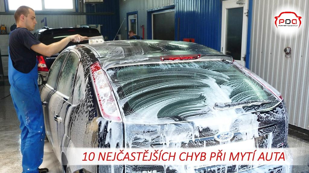 10 nejčastějších chyb při mytí auta