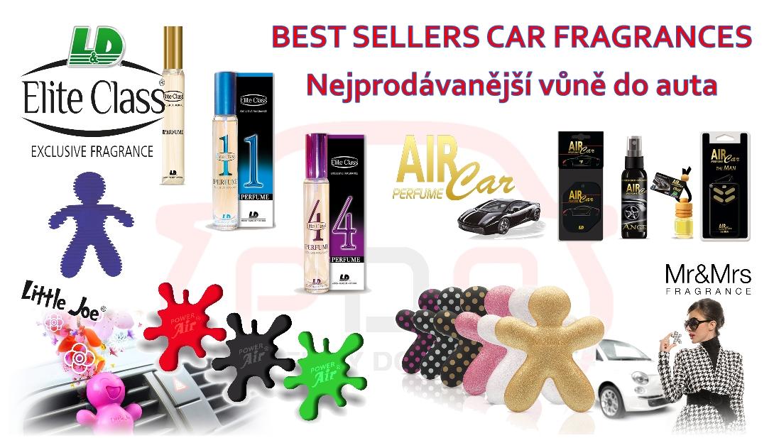 Nejprodávanější a nejlepší vůně do auta