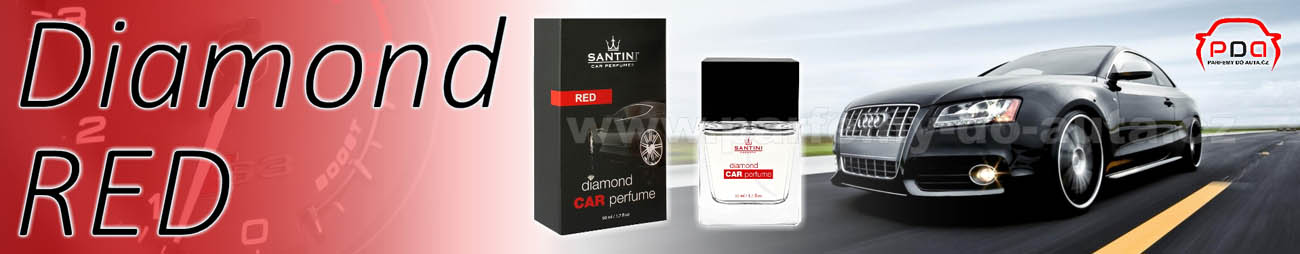 Diamond Car Perfume Red - červený autoparfém od Santini