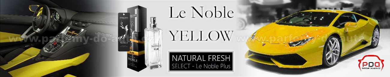 Parfém do auta Le Noble Yellow - žlutý Natural Fresh - luxusní vůně do auta