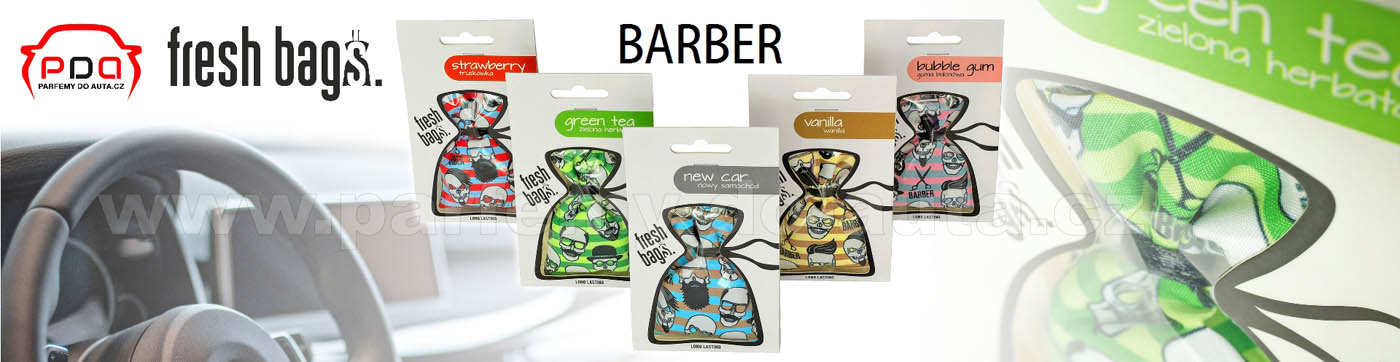 Fresh Bags Barber voňavé pytlíky do auta ReadySteady