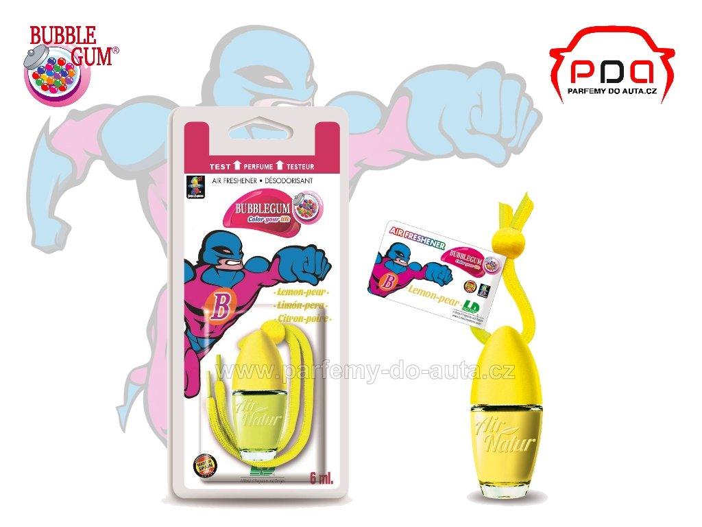 Little Bottle Bubblegum Lemon Pear žvýkačková vůně do auta