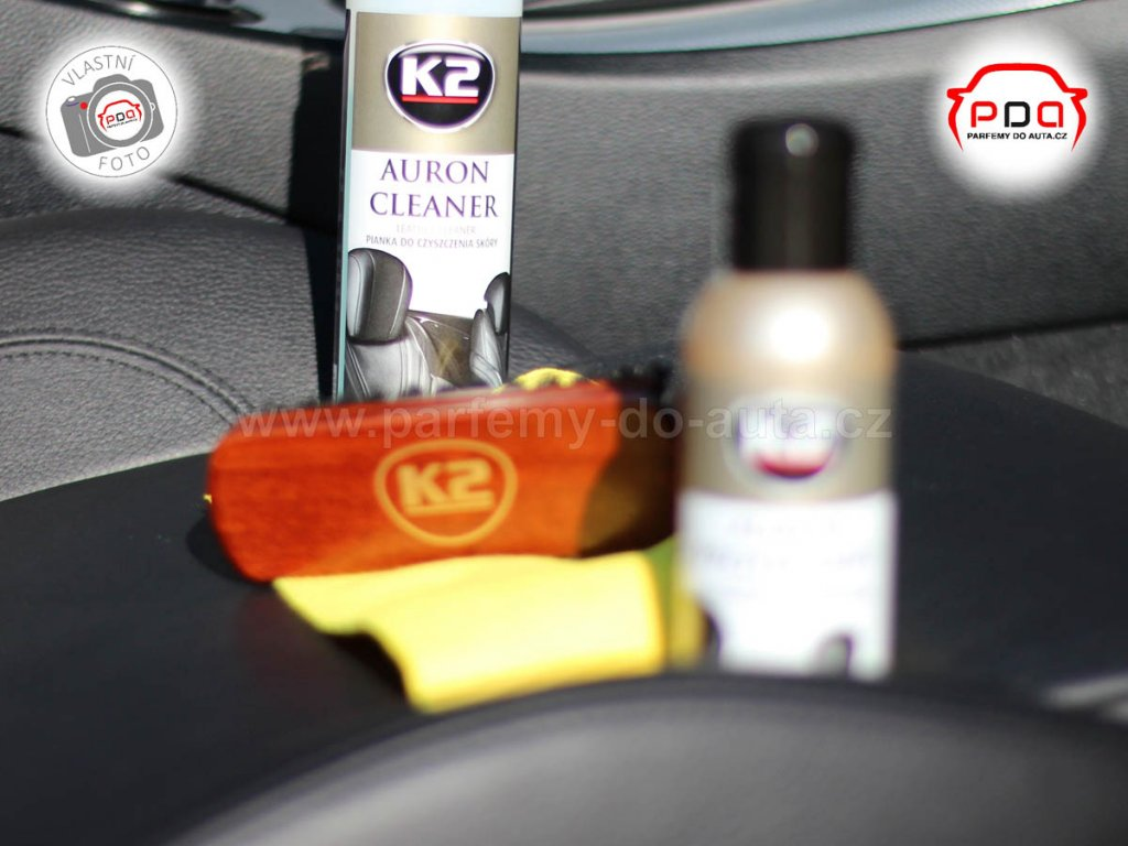 Auron K2 sada na čištění a impregnaci kůže automobilu