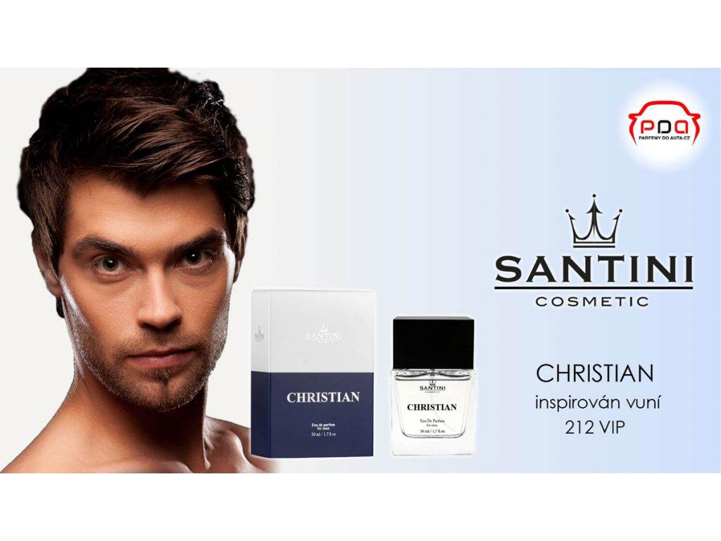 c3d18889f2be4 Pánský parfém CHRISTIAN od Santini AKCE 1+1 | Parfémy do auta.cz