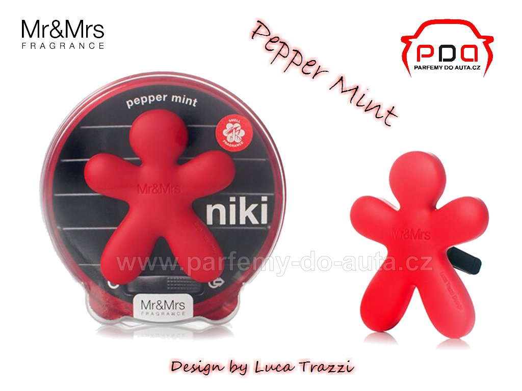 Panáček Niki Pepper mint - máta - vůně do auta Mr Mrs Fragrance