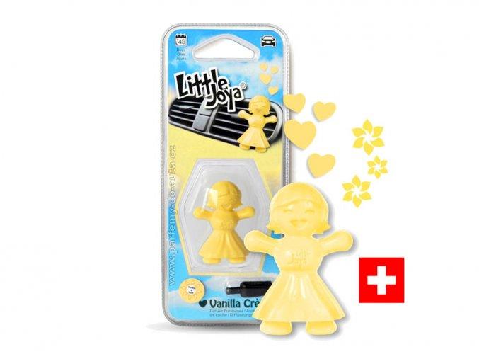 Little Joya Vanilla Creme žlutá panenka vůně do auta