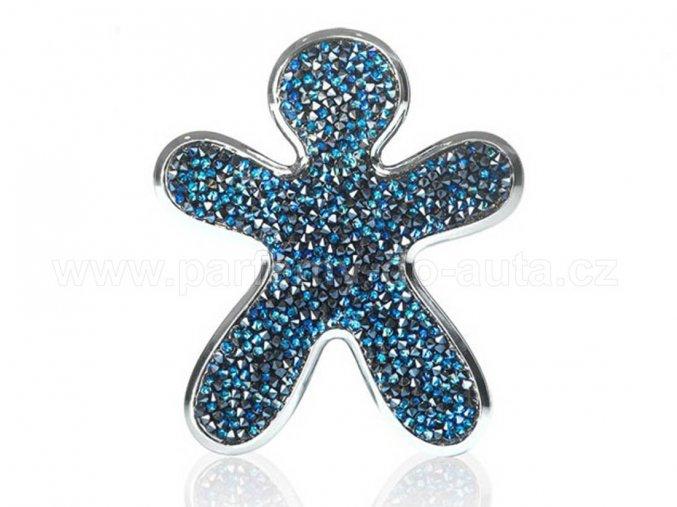 Niki Crystal Blue With Silver Finishing modrý panáček Mrs