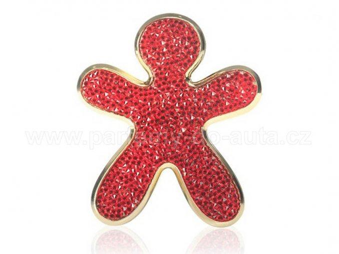 Niki Crystal Red With Gold Finishing červený panáček Mrs