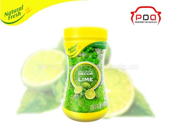 Perličkovová dekorační vůně Jelly Perls Decor Lime Limetky