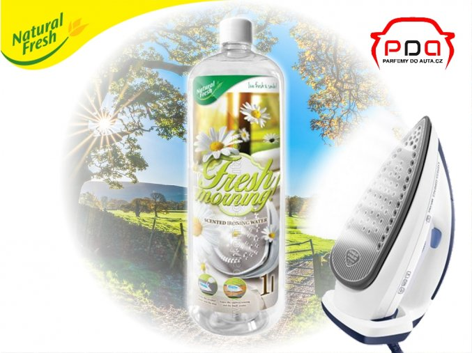 vůně do žehličky Ironing Water Fresh Morning vůně svěží ráno 1000ml Natural Fresh