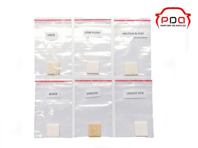 vzorky vůní pro výrobu reklamní osvěžovačů Prémium