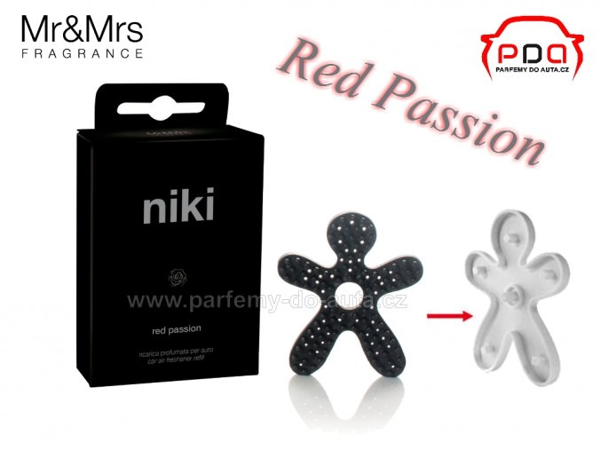 Náhradní náplň vůně NIKI Crystal Red Red Passion mr mrs Fragrance