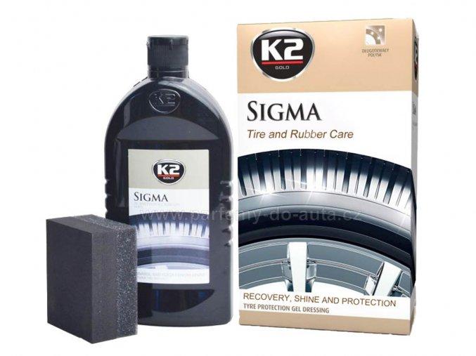 K2 Sigma péče a lesk na pneumatiky a pryžové gumové díly
