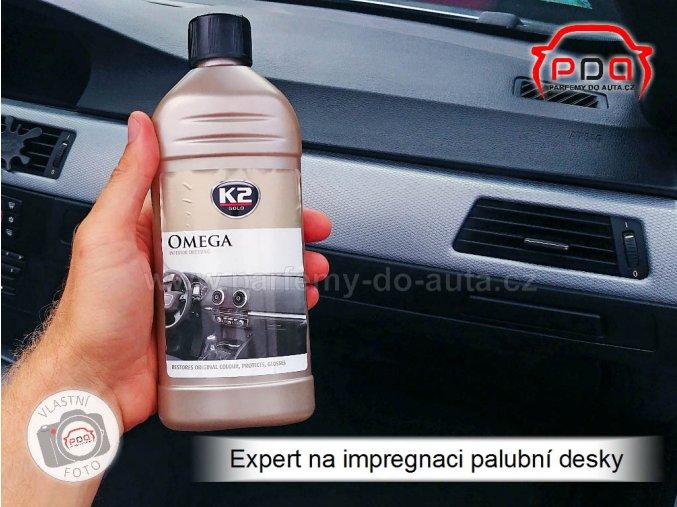 K2 Omega péče o palubní desku a interiérové plasty