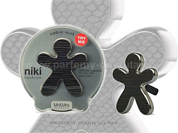 Panáček Niki Fashion Ambre Musk černý Mr Mrs Fragrance