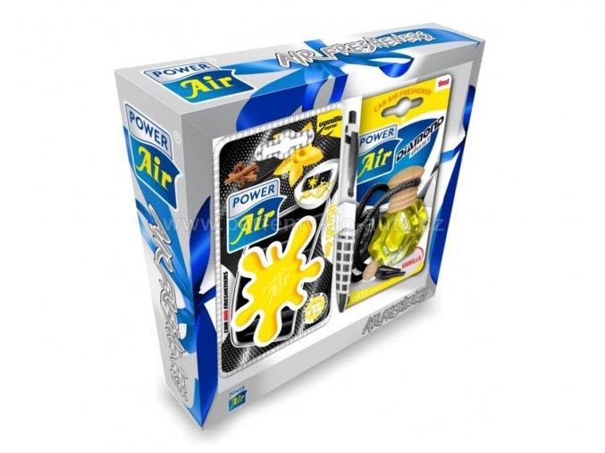 Dárkové balení sada vůní do auta Tuning Set Yellow žlutý Power Air