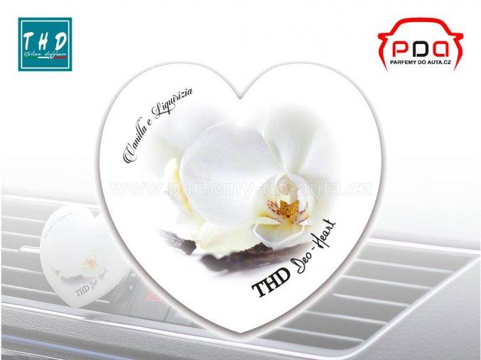Deo Heart Vanilla e Liquirizia vůně do auta srdíčko THD