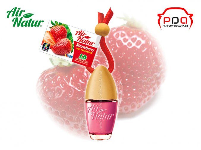 Vůně do auta Air Natur Bottle Strawberry Jahoda