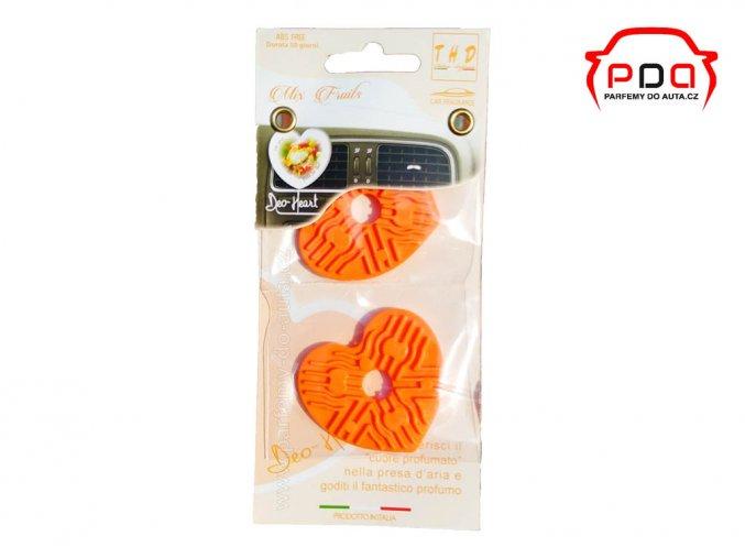 Náhradní náplně 2ks Mix Fruitst do vůně Deo Heart THD srdíčko do auta