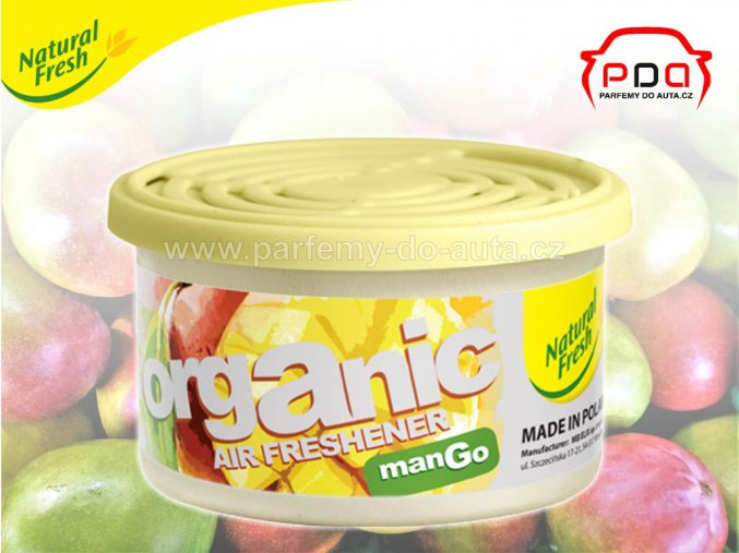 Organic Pure Mango vonná plechovka do auta