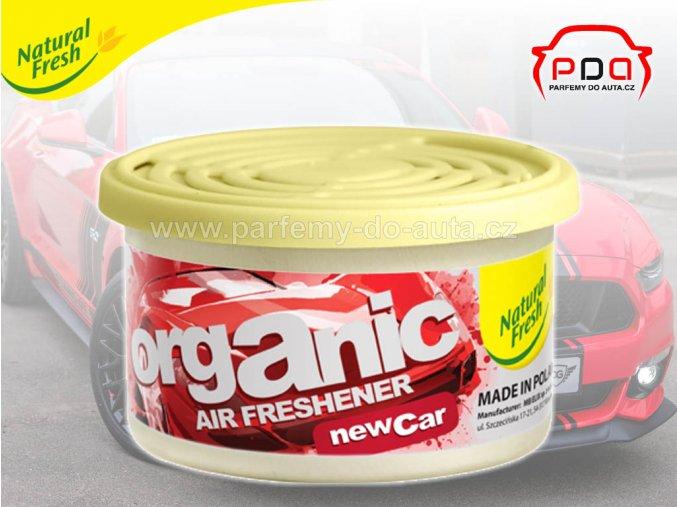 Organic Pure New Car nové auto vonná plechovka do auta