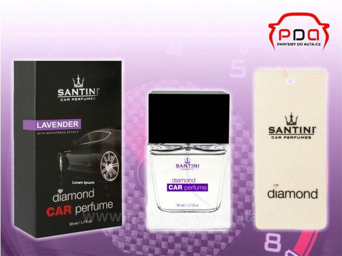 Santini Diamond Car Perfume Lavender fialový autoparfém