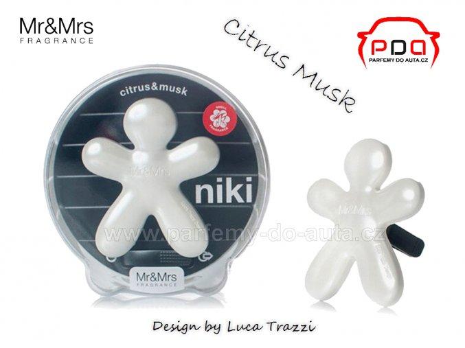 Panáček bílí Niki Citrus & Musk - citrus a pižmo - vůně do auta Mr Mrs Fragrance