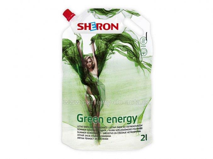 letní směs do ostřikovačů Sheron Green energy 2 litry