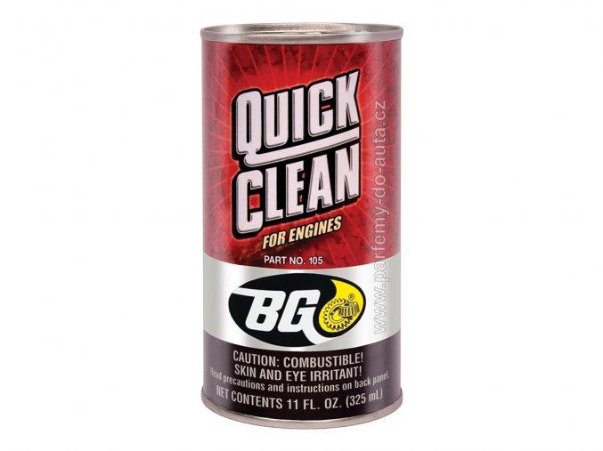 BG 105 Quick Clean čistič olejového systému motoru aditivum USA