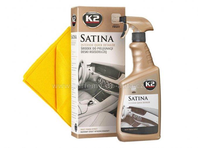Satina K2 detailer impregnace na plubní desku a plasty v interiéru automobilu