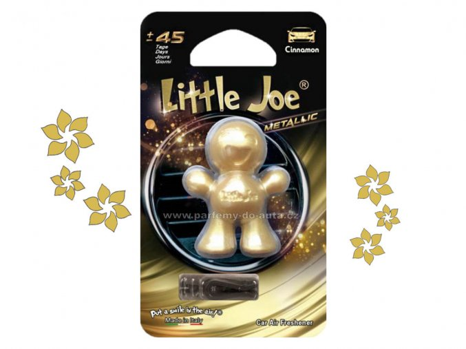 Little Joe Metalic Cinnamon skořice zlatý panáček do auta