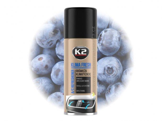čistič klimatizace K2 Klima Fresh Blueberry borůvky 150ml