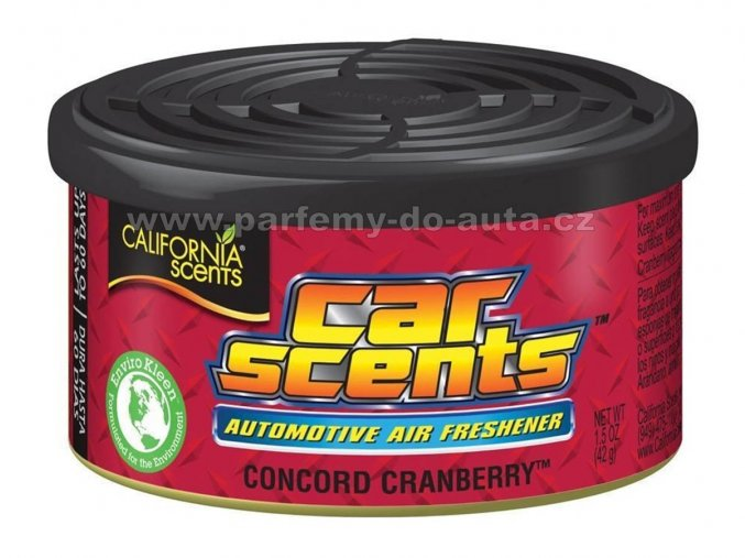 Car Scents Concord Cranberry - Brusinka
