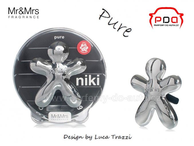 Panáček Niki Pure - čistota - vůně do auta Mr Mrs Fragrance