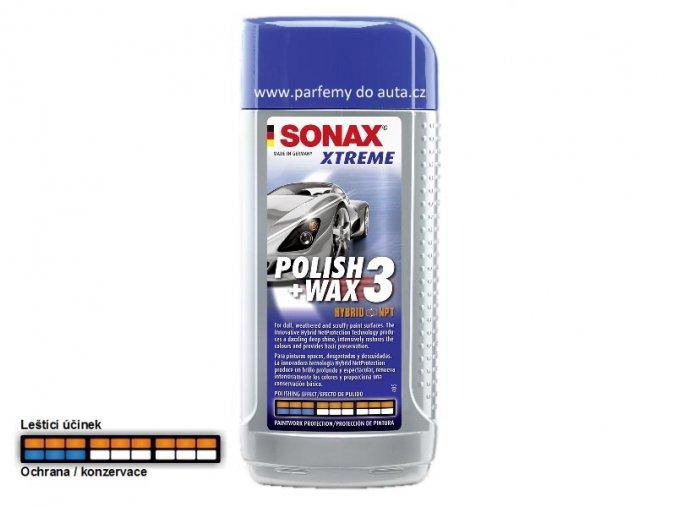 SONAX Polish+Wax3 nanovosk s leštěnkou