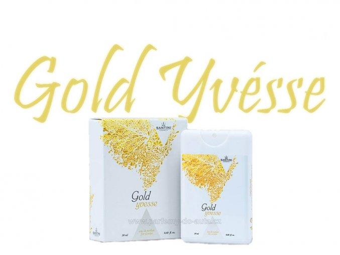 Santini Gold Yvesse 20ml dámský parfém do kabelky