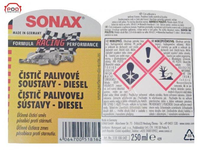 Čistič palivové soustavy DIESEL Sonax