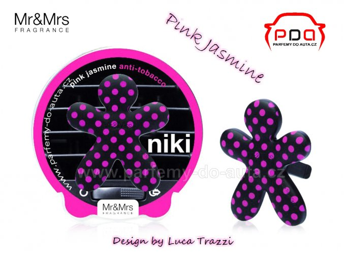 Panáček Niki Pink Jasmine anti-tobacco - vůně do auta Mr Mrs Fragrance