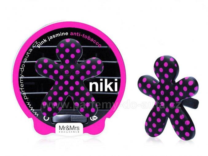Niki růžovo černý Pink Jasmine (anti tobacco) panáček do auta