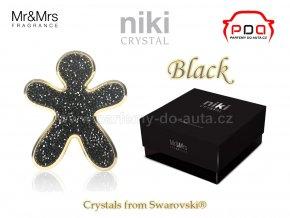 panáček NIKI Crystal Black - Gold - černý se zlatým rámečkem - Mr&Mrs Fragrance