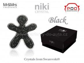 Panáček NIKI Crystal Black - Silver - černý se stříbrným rámečkem - Mr&Mrs Fragrance