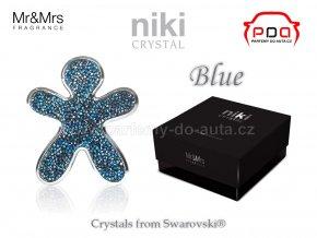Panáček NIKI Crystal Blue - Silver - Modrý se stříbrným rámečkem - Mr&Mrs Fragrance