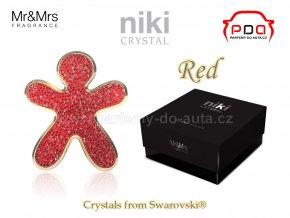 Panáček NIKI Crystal Red - Gold - červený se zlatým rámečkem Mr&Mrs Fragrance