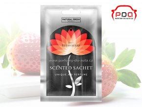 Vonné sáčky Scented Sachet Silver Juicy Strawberry šťavnaté jahody Natural Fresh
